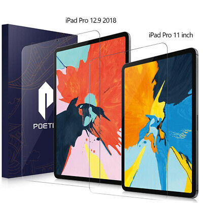 For iPad Pro 12.9 / Pro 11 Screen Protector Poetic® Ultra Thin Tempered Glass