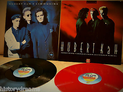 2x MAXI - HUBERT KAH - German Press BLOW UP INT125544 & INT125562 Red Vinyl (NM)