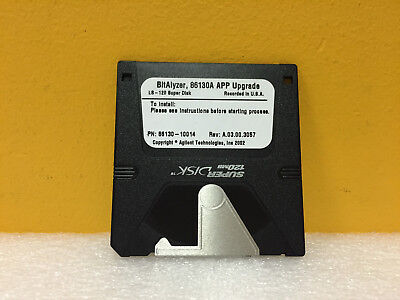 Agilent / HP 86130-10014 Rev: A.03.00.3057 L8-120 Super Disk APP Upgrade. New!