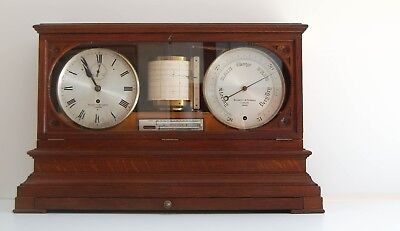 Mid-Victorian Weather Station Or Self Recording Aneroid Barometer By Negretti &