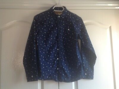 Boys Blue Long Sleeved Shirt Age 12-13 Years