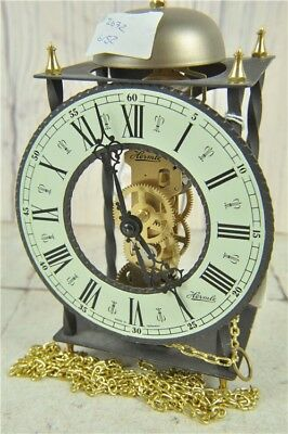 Vintage metal and brass Hermle clock