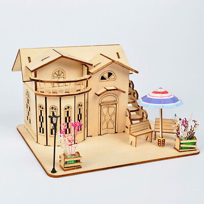 1:24 Dollhouse Miniature DIY Doll House Kits Handcraft Home Decor Model #3