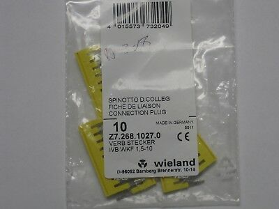 New bag of 6 Wieland Terminal block jumpers Z7.268.1027.0 10 pole IVB WKF 1,5-10
