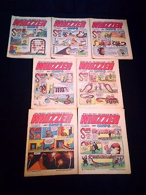 Whizzer and Chips Vintage Comic Small Joblot/Bundle x 7 (1972/1973)