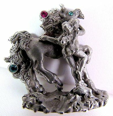 Miniature Comstock Pewter C C Mythical Figurine 1 1/2 Inch Horse Fairy