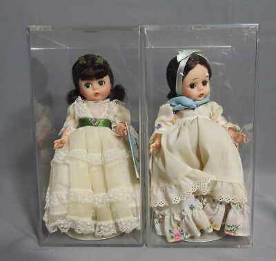 "Madame Alexander Little Women Dolls Lot 7,5""h 1970-S Scarlette Argentina Tagged"