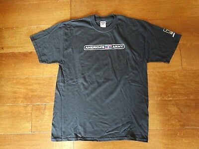 Jerzees- America's Army T Shirt Army strong- Black Men's size Large.