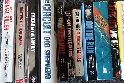 TRUE CRIME BOOK JOB LOT collection mafia undercover drugs murder gangsters