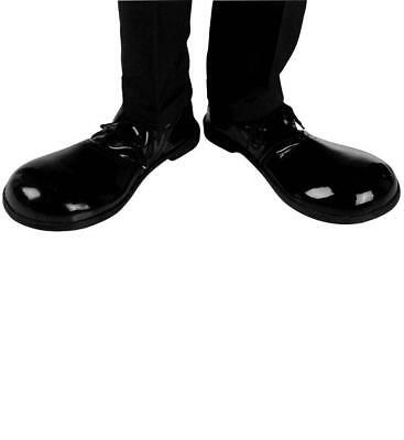 Giant Novelty Clown Character Shoes Professional Thick Soles Black Shiny Outdoor