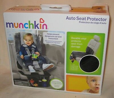 Munchkin Baby Car Seat Protector Auto Back Cover Travel Bag Storage Pocket NEW