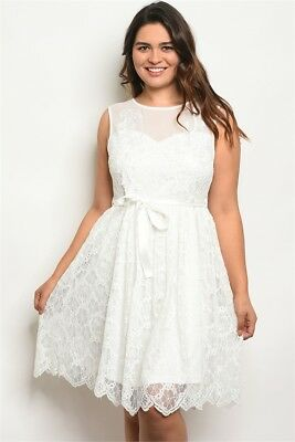 e80907d056c LANE BRYANT PERFORATED White Surplice Dress With Pink Belt Plus Size ...