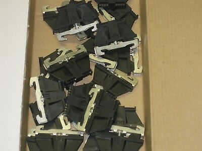 23 new Wieland wide din rail end clamp stop black Z5.522.8553.0 9708/2 S 35