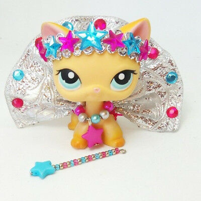 092583fbe4a10 LITTLEST PET SHOP LPS custom outfit clothes accessories LOT * CAT ...