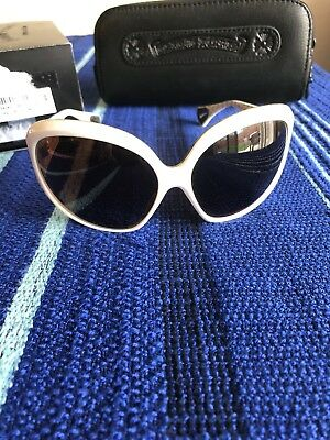 """35454846600 Chrome Hearts Sunglasses """"Sweet Young Thang I"""" White Frame Authentic Round  Lens"""