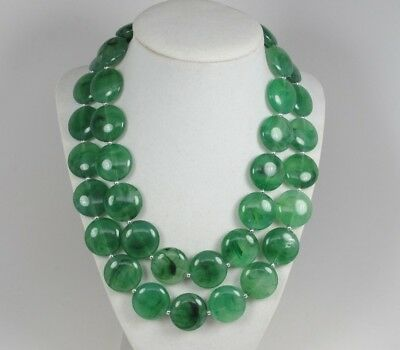 Chunky forest  green  necklace,multi strand statement apple green necklace, bead