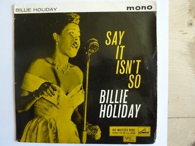 "Billie Holiday Say it isn't so Vinyl EP 7"" Jazz, Swing"
