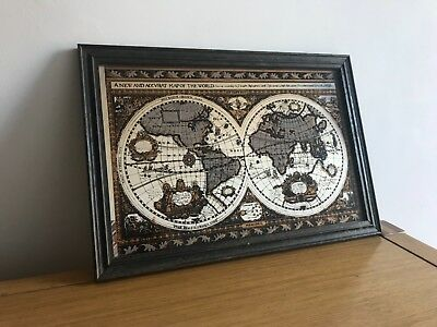 A new & accvrat map of the world -  collectable mirror picture