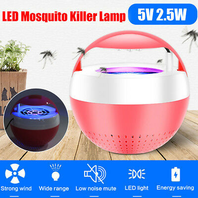 5V USB LED Electric Mosquito Fly Bug Zapper Insect Killer Light Pest Lamp Trap