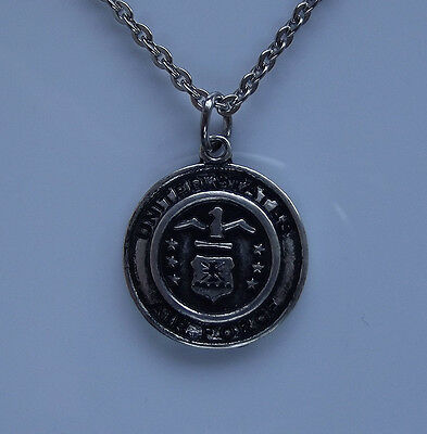 US AIR FORCE Pendant Necklace American Military Veteran War Hero Tactical Badge