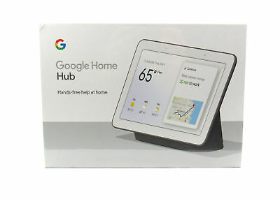 "Google Voice-Activated Smart 7"" WSVGA Touchscreen Bluetooth Home Hub, Charcoal"