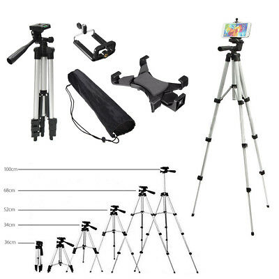 Adjustable Camera Tripod Stand Mount + Mobile Phone Tablet Holder + Carry Case