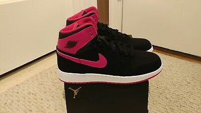 Nike Air Jordan 1 Retro High GG Size 9.5Y 332148-008 women's sz 11 black pink