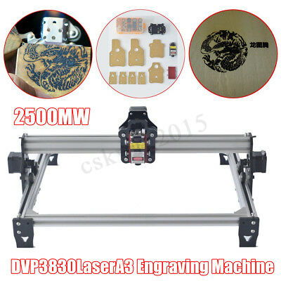 A3 Pro 2500mW CNC Laser Engraving Machine DIY Logo Mark Engraver Printer Cutter