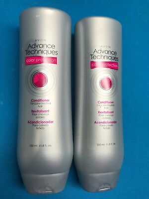 Lot Of 2 Avon Advance Techniques Color Protection Conditioner 11.8 Oz New