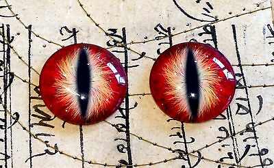 Taxidermy Glass Dragon, Sauron, Monster Eyes, Red 20mm, 25mm, 30mm