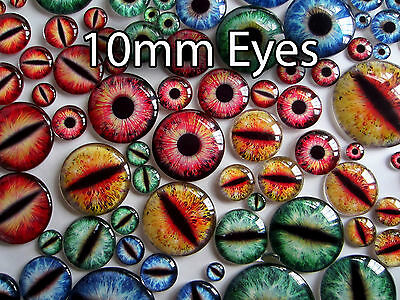 Taxidermy Glass Dragon, Cat, Monster Craft 10mm Eyes, 7 styles