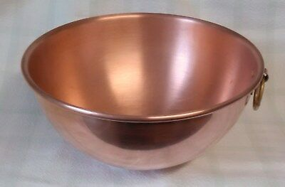 Vintage Williams Sonoma France Copper Candy Jelly Egg Whites Mixing Bowl.