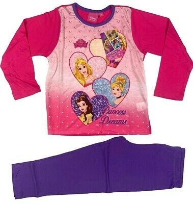 Official Disney Princess Pyjamas Pajamas Pjs Girls Kids Children's 5 6 8 10