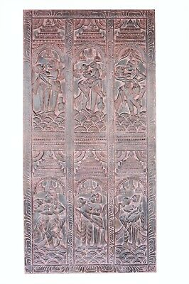 Kamasutra DOOR Erotic Handcarved Vintage WOOD sculpture BARNDOOR ECLECTIC CHIC