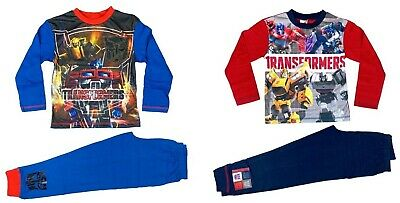 Boys Official Transformer Pyjamas Pajamas Pjs Kids Children's 5 6 8 10