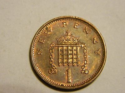 1980 Great Britain One Cent Penny-----Lot #2353