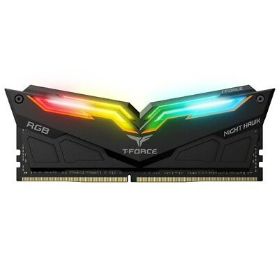 T-Force Night Hawk RGB Series DDR4 3200MHz Dual channel 2 x 8GB Black SY-SC-T...