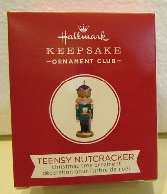 Hallmark 2018 ornament TEENSY NUTCRACKER Local Club gift repaint miniature