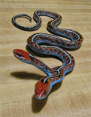 Rare 2 headed Garter Snake taxidermy replica TWO HEADS