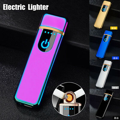 Touch Sensor Metal Cigarette Lighter Rechargeable USB Charging Lighter Electric