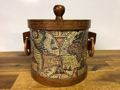 Vintage World Globe Style Ice Bucket
