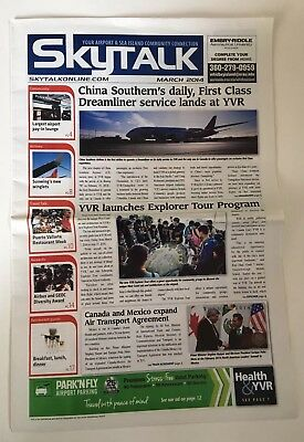 SKYTALK Vancouver International Airport Canada March 2014 Newspaper