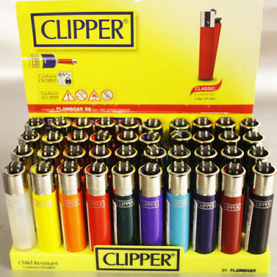 CLIPPER LIGHTERS Original Size Gas Refillable Flint Lighter Solid GENUINE Brand