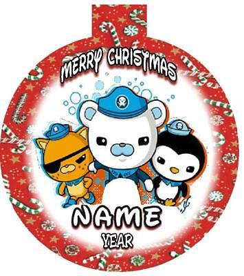 OCTONAUTS Personalized Christmas Ornament Any Name/Message FREE Ship  Adorable - PERSONALIZED CHRISTMAS ORNAMENT For 7 Snowmen Resin Ornament USA