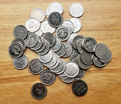 Lot of 50 No Cash Value  Tokens - Eagle, Size .984