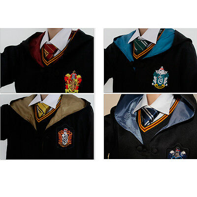 Harry Potter Cosplay Cloak Robe Gryffindor SlytherinHufflepuff Ravenclaw Costume