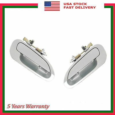 Rear Pair Outside Door Handle For Accord NH612M Regent Silver Metallic 98 99-02