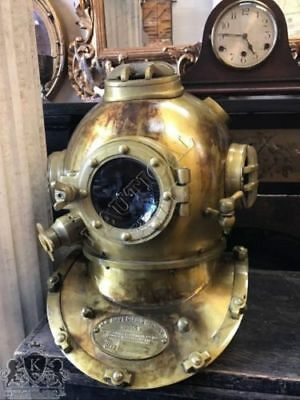 Diving Helmet Boston Navy Mark V Sea Scuba Divers Marine Helmet Vintage 18""