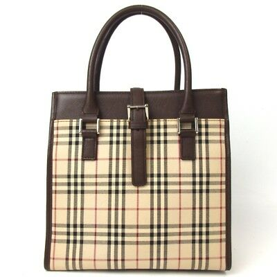 AUTHENTIC BURBERRY LONDON Women s Nova Check Coated Canvas Small ... f094ad8372