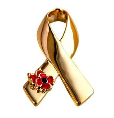 2018 Lady Ribbon Poppy Badge Broach Women's Brooches Pins Jewelry Gifts Cancer